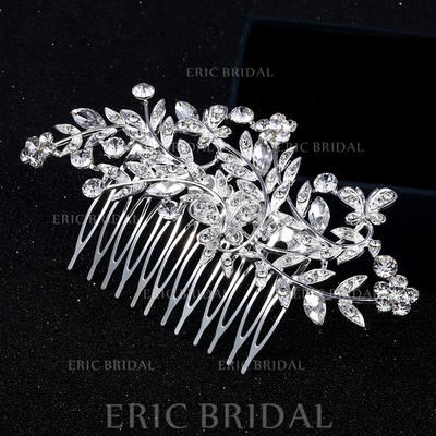 """Combs & Barrettes Alloy 4.53""""(Approx.11.5cm) 2.36""""(Approx.6cm) Rhinestone Headpieces (042159162)"""