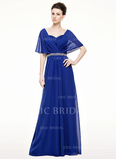 A-Line/Princess Sweetheart Floor-Length Mother of the Bride Dresses With Ruffle Lace Beading Sequins (008210623)