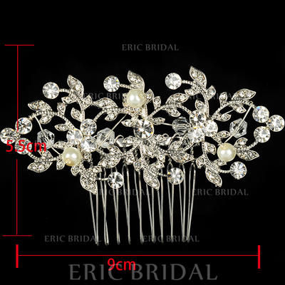 "Combs & Barrettes Wedding/Special Occasion/Casual/Outdoor/Party Rhinestone/Alloy 3.54""(Approx.9cm) Beautiful Headpieces (042157221)"