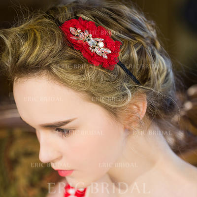 """Flowers & Feathers/Headbands Wedding/Special Occasion/Casual/Party Crystal/Rhinestone 3.54""""(Approx.9cm) 1.77""""(Approx.4.5cm) Headpieces (042156640)"""