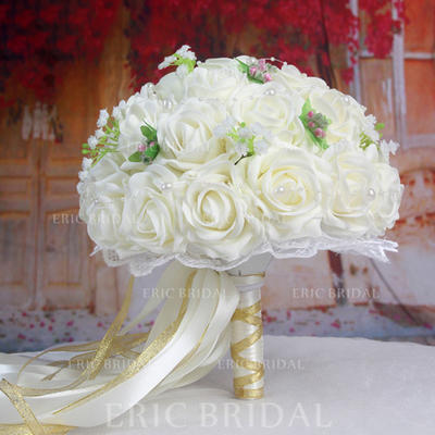 "Bridal Bouquets/Bridesmaid Bouquets Wedding Satin 12.99""(Approx.33cm) Wedding Flowers (123189710)"