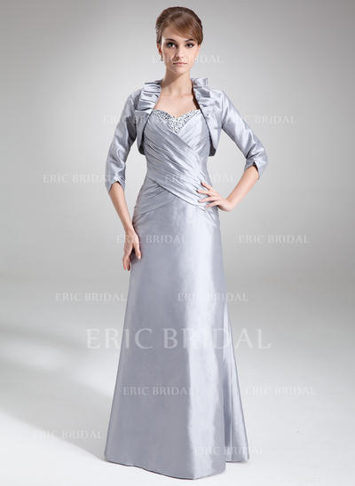 Sheath/Column Sweetheart Floor-Length Mother of the Bride Dresses With Ruffle Beading Sequins (008006075)