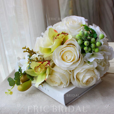 "Bridal Bouquets Round Wedding 13.78""(Approx.35cm) 9.49""(Approx.24cm) Wedding Flowers (123190289)"