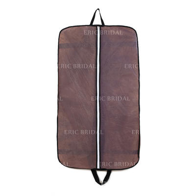 Garment Bags Suit Length Center Zip Tulle/Nonwoven Fabric Chocolate Wedding Garment Bag (035192306)