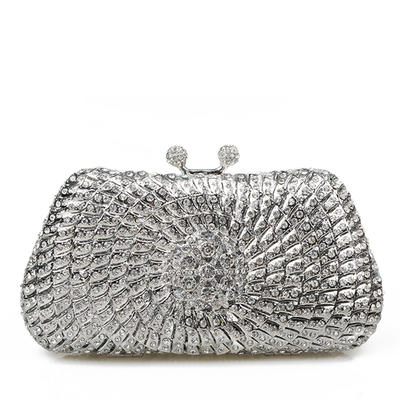 Clutches/Bridal Purse/Luxury Clutches Wedding/Ceremony & Party Crystal/ Rhinestone Magnetic Closure Elegant Clutches & Evening Bags (012185858)