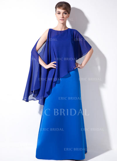 Sheath/Column Satin Sleeveless One-Shoulder Floor-Length Zipper Up at Side Mother of the Bride Dresses (008211093)
