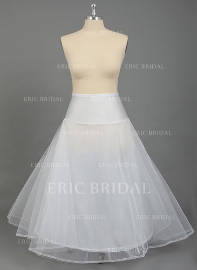 PLUS SIZE Petticoats Nylon/Tulle Netting A-Line Slip/Full Gown Slip 2 Tiers Wedding/Special Occasion Petticoats (037190784)