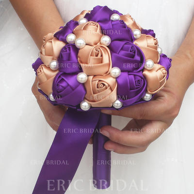"Bridal Bouquets/Bridesmaid Bouquets Round Wedding/Party Satin 5.91""(Approx.15cm) Wedding Flowers (123190400)"