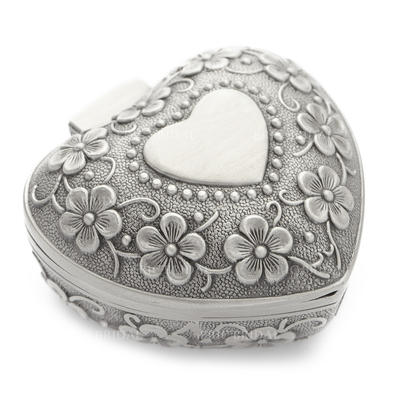 """Jewelry Box Alloy/Silver Plated Ladies' Heart Shaped 3.15""""(Approx.8cm) Wedding & Party Jewelry (011165073)"""