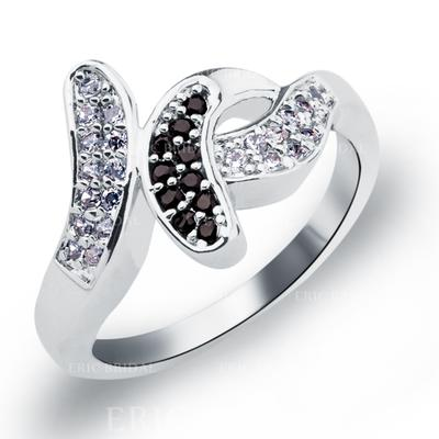 Rings Copper/Zircon/Platinum Plated Ladies' Unique Wedding & Party Jewelry (011165390)