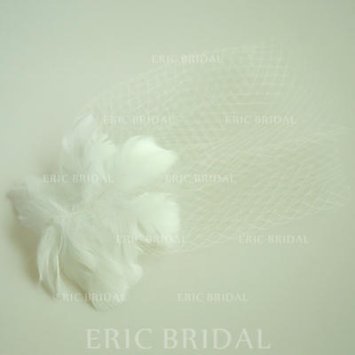 """Forehead Jewelry Wedding/Special Occasion/Party Net Yarn/Feather 9.84""""(Approx.25cm) 7.87""""(Approx.20cm) Headpieces (042159538)"""