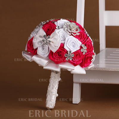 "Bridal Bouquets Round Wedding Satin/Ribbon 10.24""(Approx.26cm) Wedding Flowers (123188910)"