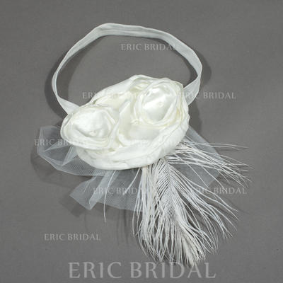 "Headbands Wedding/Special Occasion/Party Satin/Tulle 5.53""(Approx.14cm) 6.69""(Approx.17cm) Headpieces (042156313)"