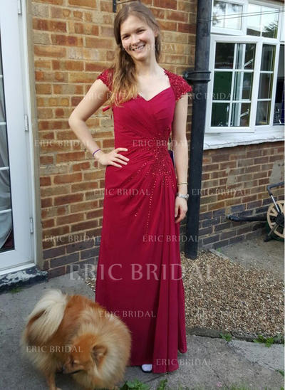 A-Line/Princess Sweetheart Floor-Length Mother of the Bride Dresses With Ruffle Beading (008212703)