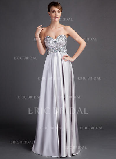 Empire Sweetheart Sweep Train Mother of the Bride Dresses With Ruffle Beading (008213141)