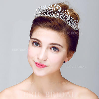 """Tiaras Wedding/Special Occasion/Party Crystal/Alloy 9.65""""(Approx.24.5cm) 1.97""""(Approx.5cm) Headpieces (042156249)"""