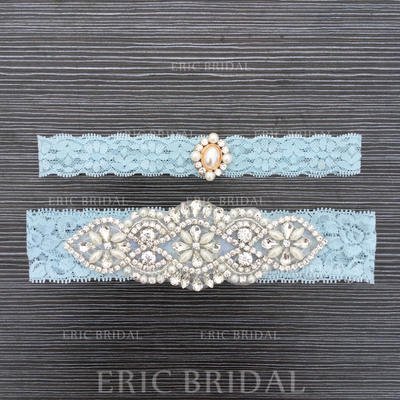 Garters Bridal Wedding Lace With Rhinestone/Lace Garter (104196538)