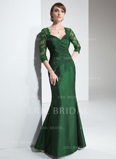 Trumpet/Mermaid Sweetheart Floor-Length Mother of the Bride Dresses With Ruffle Lace (008213083)