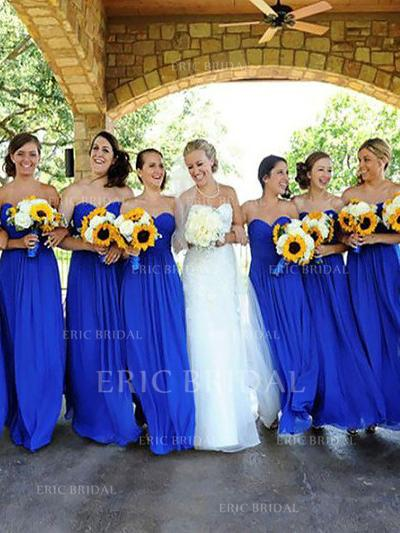 A-Line/Princess Sweetheart Floor-Length Bridesmaid Dresses With Ruffle (007211714)