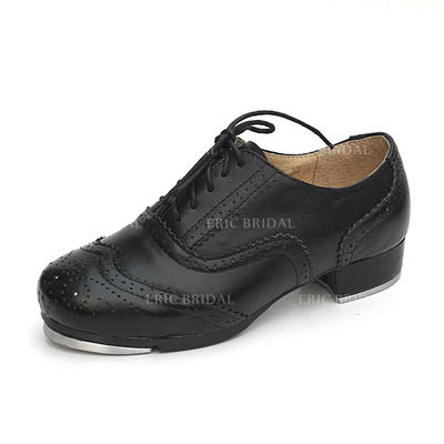 Unisex Tap Flats Real Leather Dance Shoes (053180251)