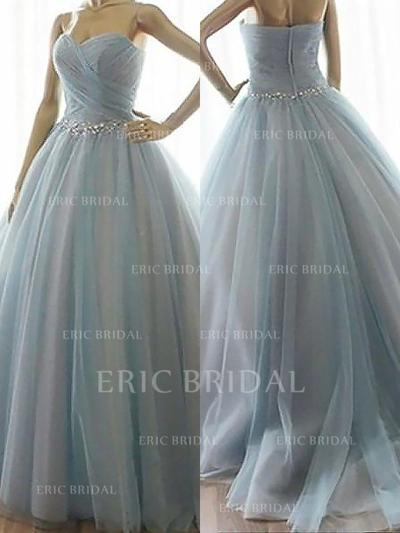 Ball-Gown Sweetheart Floor-Length Prom Dresses With Beading (018210287)