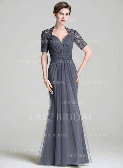 Trumpet/Mermaid Sweetheart Floor-Length Mother of the Bride Dresses With Ruffle (008211529)