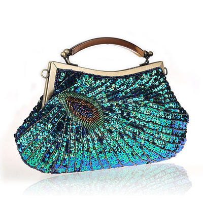 """Wristlets/Totes Sparkling Glitter/Polyester Magnetic Closure Elegant 7.87""""(Approx.20cm) Clutches & Evening Bags (012188051)"""