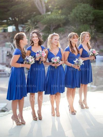 A-Line/Princess Sweetheart Knee-Length Bridesmaid Dresses With Ruffle (007145007)