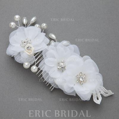 """Combs & Barrettes Wedding/Special Occasion/Party Imitation Pearls/Artificial Silk 6.89""""(Approx.17.5cm) 2.95""""(Approx.7.5cm) Headpieces (042154264)"""