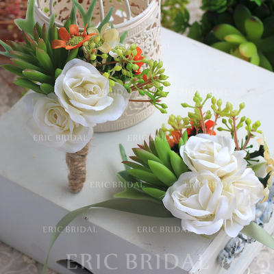 "Wrist Corsage/Boutonniere Wedding Ribbon/Artificial Silk 5.12""(Approx.13cm) The color of embellishments are shown as picture/Color & Style representation may vary by monitor/Not responsible for typographical or pictorial errors. Wedding Flowers (123189260"