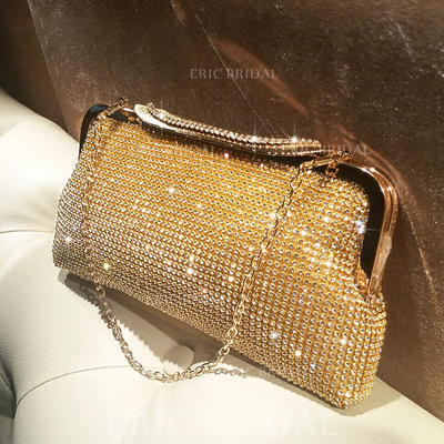 "Clutches/Satchel Ceremony & Party Crystal/ Rhinestone Shining 9.45""(Approx.24cm) Clutches & Evening Bags (012187296)"