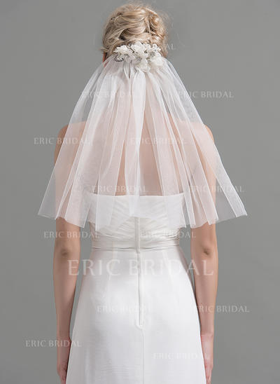 Shoulder Veils Tulle One-tier Classic With Cut Edge Wedding Veils (006151931)