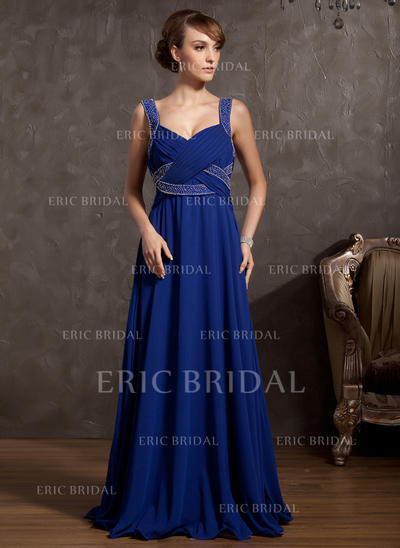 Empire Chiffon Sleeveless V-neck Floor-Length Zipper Up Mother of the Bride Dresses (008211062)