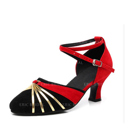 Women's Ballroom Sandals Suede With Hollow-out Dance Shoes (053180829)