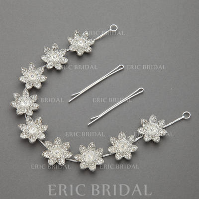 """Headbands Wedding/Special Occasion/Party Rhinestone/Alloy 11.02""""(Approx.28cm) 0.98""""(Approx.2.5cm) Headpieces (042154216)"""