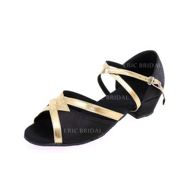 Women's Latin Heels Leatherette With Buckle Dance Shoes (053180846)