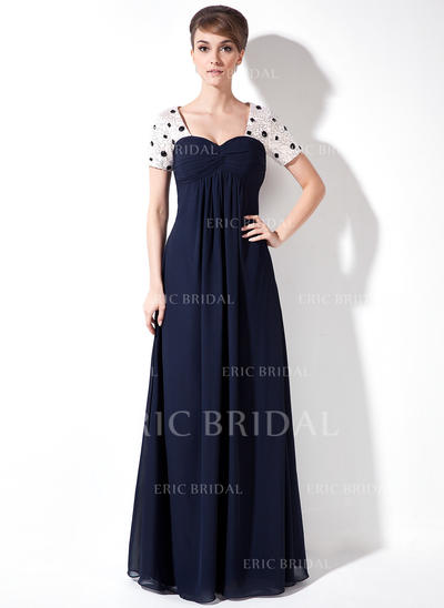 Empire Sweetheart Floor-Length Chiffon Mother of the Bride Dress With Ruffle Beading Sequins (008005931)