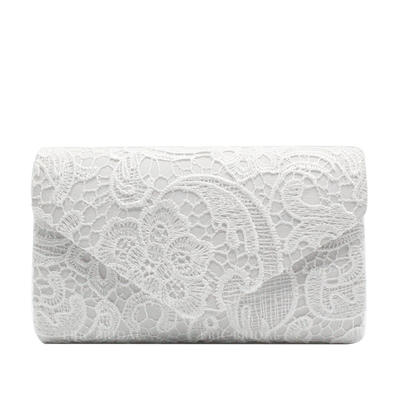 Clutches/Luxury Clutches Wedding/Ceremony & Party/Casual & Shopping/Office & Career Lace Snap Closure Elegant Clutches & Evening Bags (012187796)