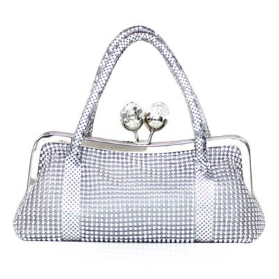 Wristlets Wedding/Ceremony & Party/Casual & Shopping Acrylic Kiss lock closure Elegant Clutches & Evening Bags (012184300)