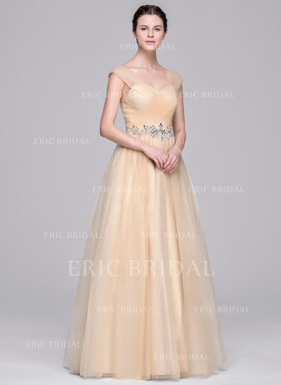 Ball-Gown Sweetheart Floor-Length Wedding Dresses With Ruffle Beading Appliques Lace Sequins (002210663)