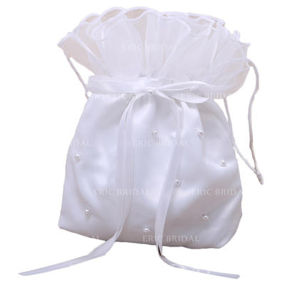 Bridal Purse Wedding Satin Tether closure Lovely Clutches & Evening Bags (012184183)