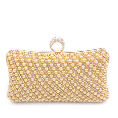 Clutches Ceremony & Party PU Clip Closure Charming Clutches & Evening Bags (012185221)