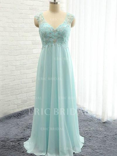 A-Line/Princess Sweetheart Floor-Length Bridesmaid Dresses With Ruffle Beading (007211713)