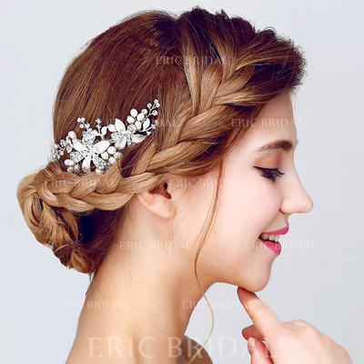 "Combs & Barrettes Wedding/Special Occasion/Party Alloy/Imitation Pearls 4.13""(Approx.10.5cm) 2.17""(Approx.5.5cm) Headpieces (042156239)"