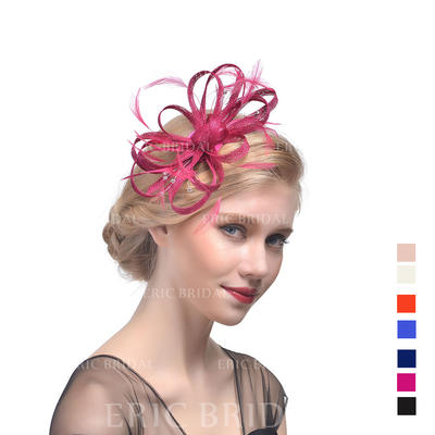 Cambric With Feather Fascinators Beautiful Ladies' Hats (196194679)