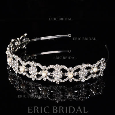 "Tiaras Wedding/Special Occasion/Party Rhinestone/Alloy 1.18""(Approx.3cm) 6.3""(Approx.16cm) Headpieces (042157346)"