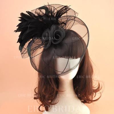 Organza With Feather Fascinators Vintage Ladies' Hats (196195062)