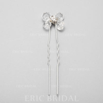 "Hairpins Wedding/Special Occasion/Party Crystal/Rhinestone/Alloy 2.36""(Approx.6cm) 0.67""(Approx.1.7cm) Headpieces (042155286)"