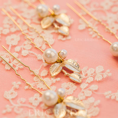 "Hairpins Wedding/Party Alloy/Imitation Pearls 1.57""(Approx.4cm) 3.94""(Approx.10cm) Headpieces (042155155)"