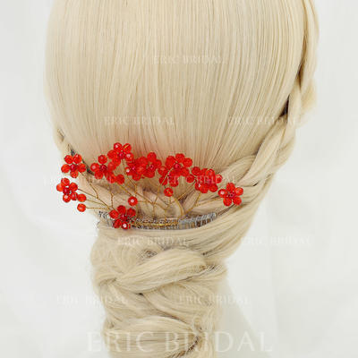 """Combs & Barrettes Wedding/Special Occasion/Party Crystal/Alloy 5.12""""(Approx.13cm) 2.56""""(Approx.6.5cm) Headpieces (042155293)"""